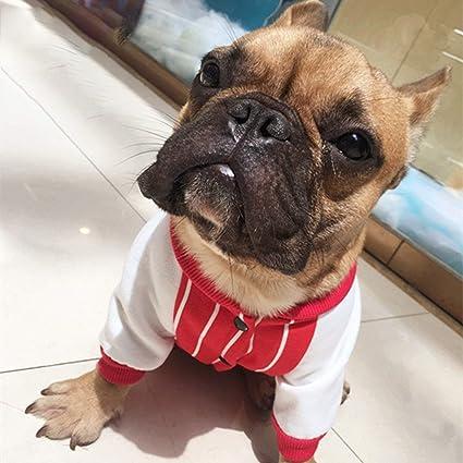 Tellaboull for Patrón de Rayas Bulldog francés Ropa para Mascotas Ropa de Perro para Mascotas Cuello