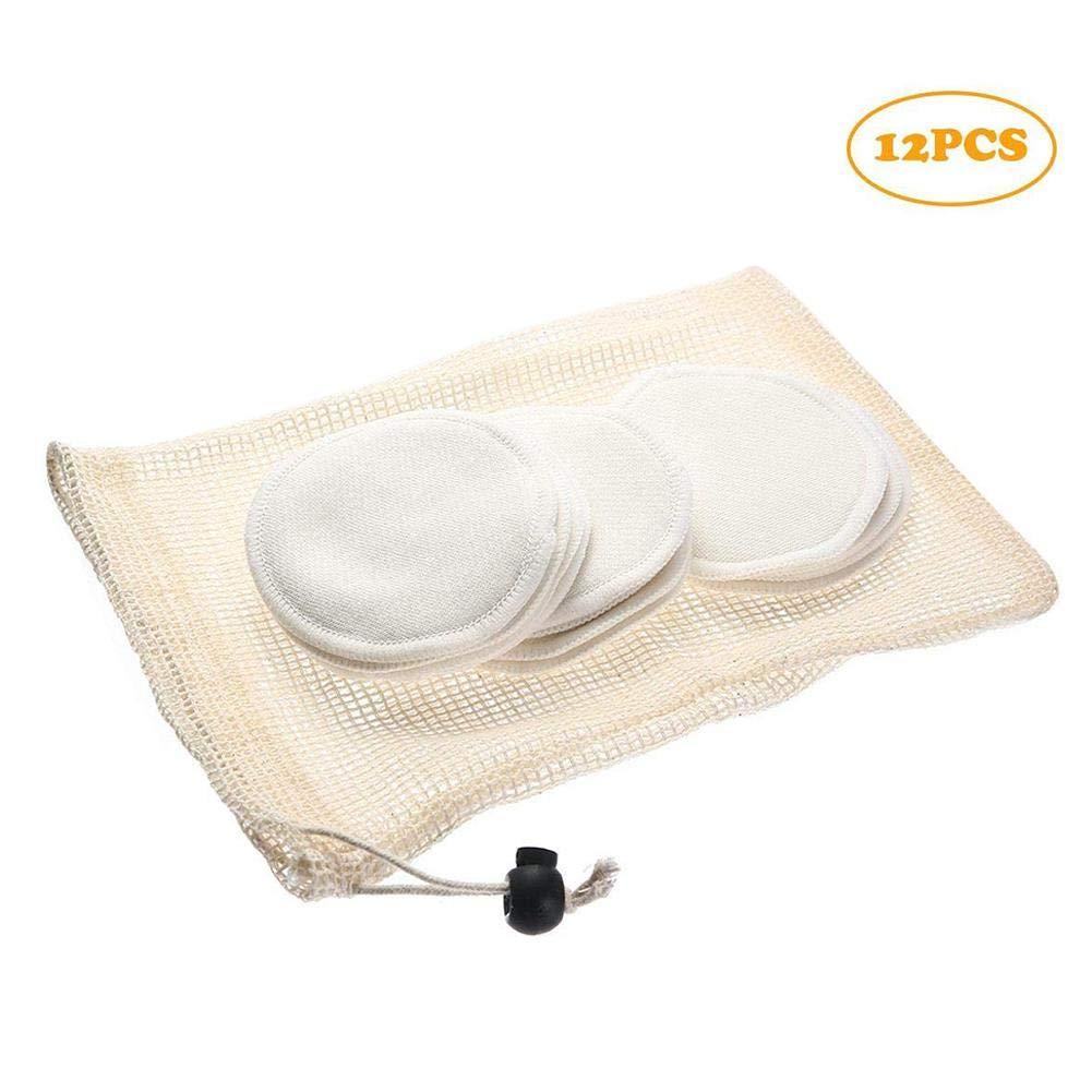Discos Desmaquillantes Reutilizables Ecologicos 12Pcs Lavable Super Suave Seguro Simp/ático para Pieles Sensibles Y Ecol/ógicas