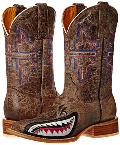 Tin Haul Shoes Women's Man Eater Western Boot Brown Crackle pay with visa cheap online free shipping explore Hutvh