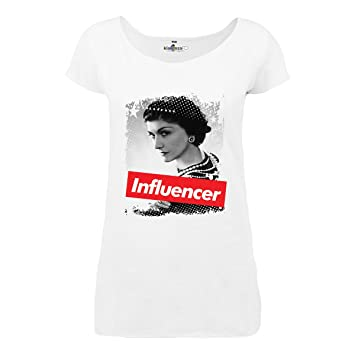 17d3e685957 KiarenzaFD T-Shirt Maillot Femme Influencer Coco Stylist Chanel Star Legend  Longue