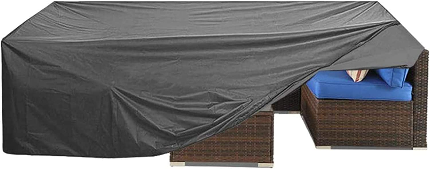 "Patio Furniture Cover, Outdoor Sectional Furniture Cover,Cover for Wicker Patio Sectional Couch Cover Table and Chair Covers Lounge Porch Sofa Cover Protective Waterproof Gray 126"" L×64"" W×29"" H"