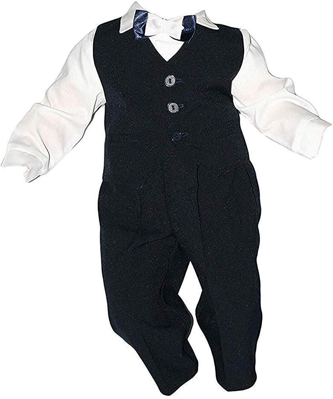 4tlg Taufanzug Baby Junge Kinder Kind Taufe Anzug Hochzeit Anz/üge Festanzug Marineblau-Wei/ß