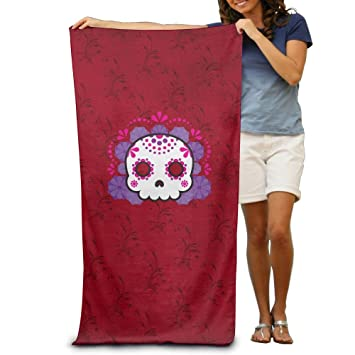 Cartoon Skull toallas de baño suave lavable a máquina fácil cuidado piscina toalla de secado rápido toalla de viaje multiuso Spa calidad ligero: Amazon.es: ...