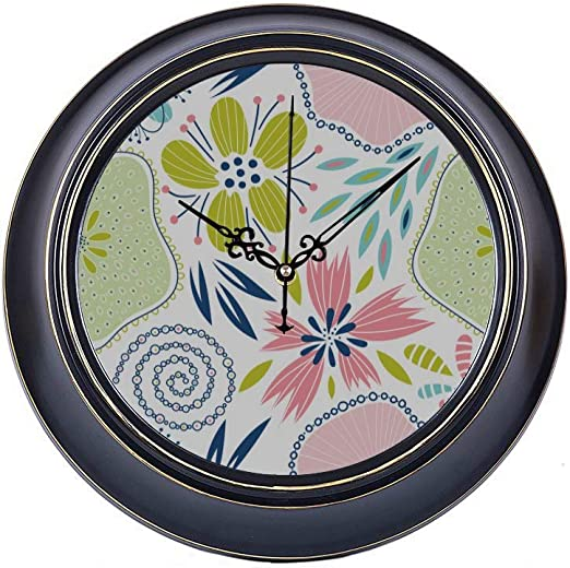 Amazon Com Kuneh 14inch Large Silent Non Ticking Home Decor Wall Clock Gorgeous Creative Fashion Art Line Metal Decorative Wall Clock Small Quality Quartz Battery Quiet Modern Home Decor Clock For Home Office
