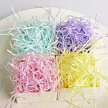 Gift Packaging Supplies 100g Colorful Shredded Tissue Paper Gifts Box Hamper Stuffing Filler Gift Filler Stuffing Basket Shredded Paper Crinkle Shred Baskets For 1pcs Amazon Ca Tools Home Improvement