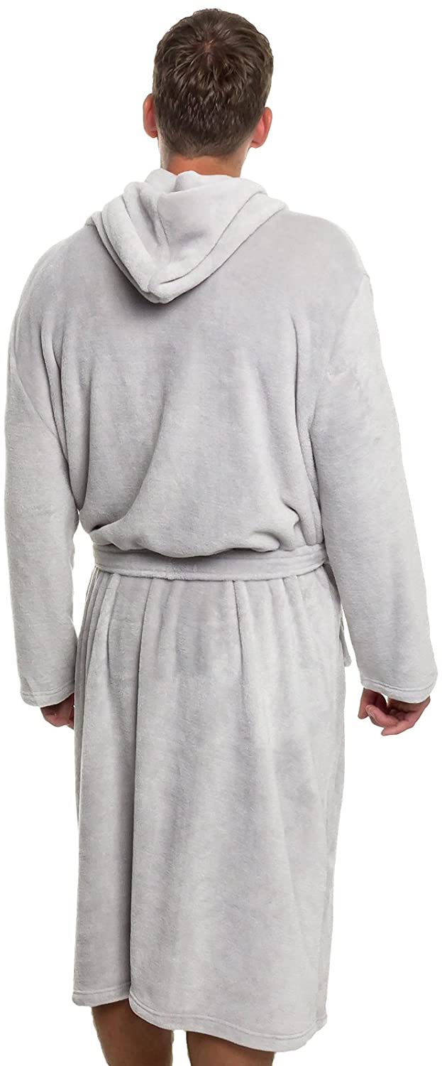 c3e4c7628d Mua sản phẩm Ross Michaels Mens Hooded Robe - Plush Shawl Kimono ...