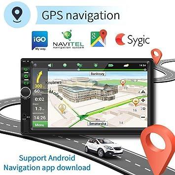 Binize 7 Inch Android 9.1 HD Quad-Core 2 Din Car Stereo Radio Multimedia Player NO-DVD GPS Navigation in-Dash Auto Radio Bluetooth/USB/WiFi DVR (2GB ...