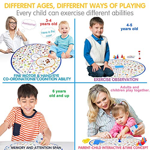 VATOS Board Game, Little Detective Card Game Memory Game Tabletop Game for Kids Families Party, Matching Game, Educational Toys for Kids Toddlers 3,4,5,6,7 Years Old Boys & Girls Gift