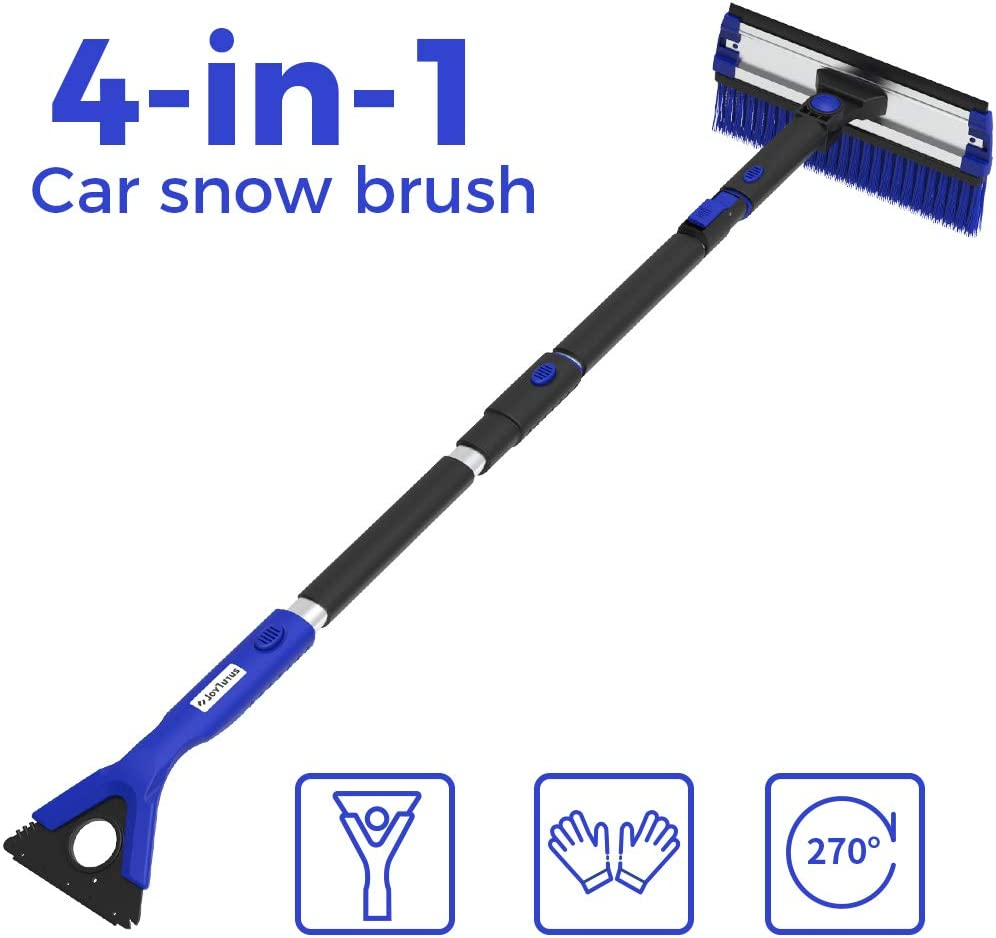 COFIT 3 in 1 Detachable Snow Brush Snow Frost Ice Removal Tool with Foam Grip for Car Truck SUV with Squeegee and Ice Scraper