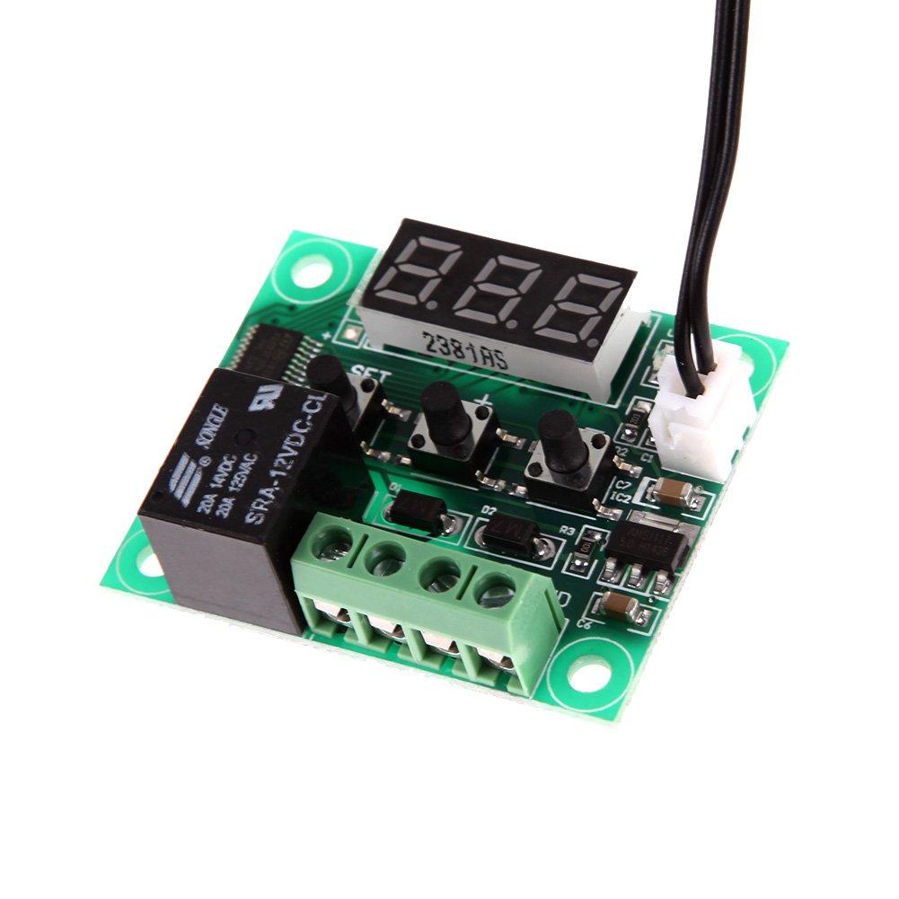 Vktech -50-110°C W1209 12V Digital Thermostat Temperature Control Switch Sensor Module - - Amazon.com