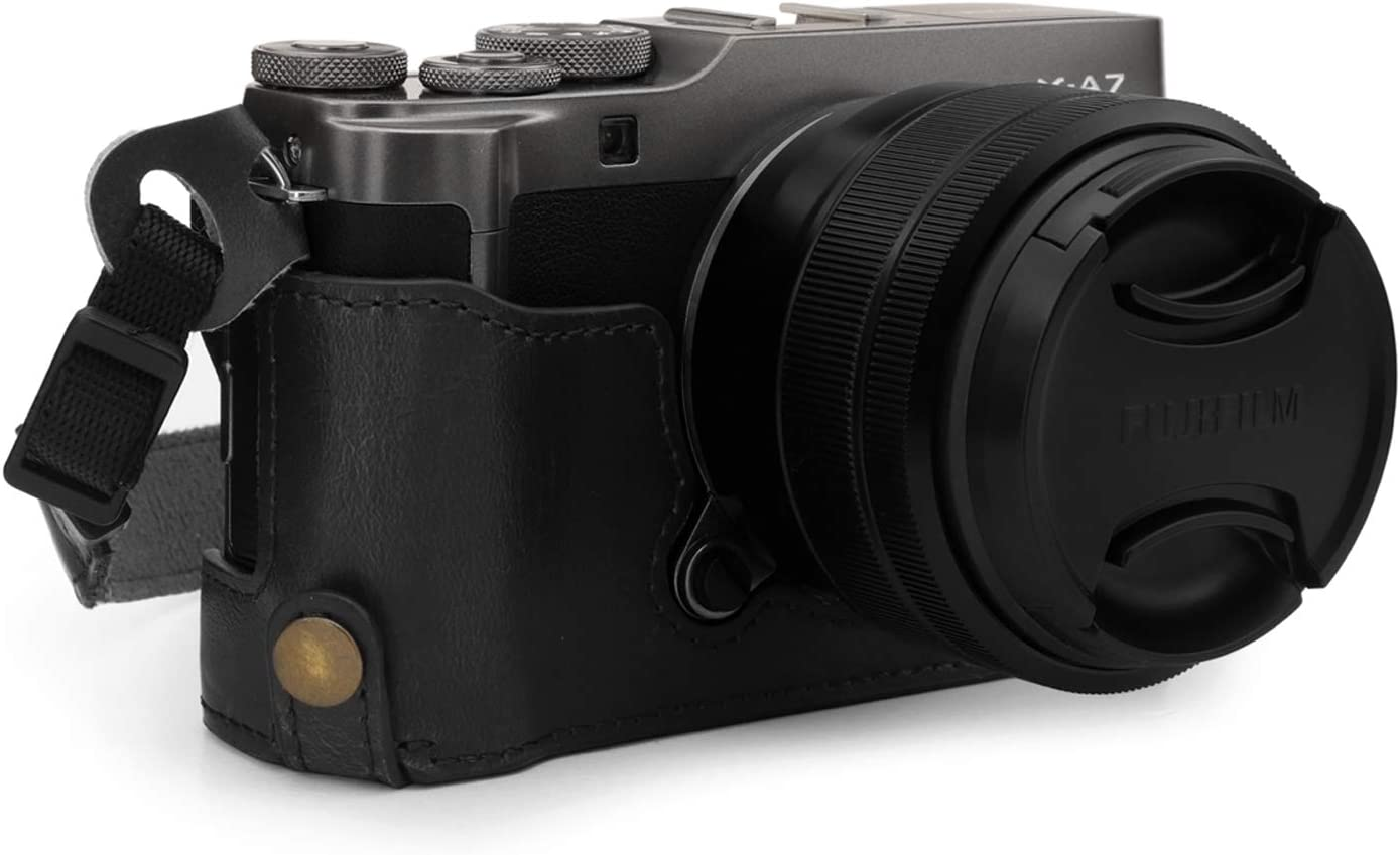 MegaGear Ever Ready Leather Camera Half Case Compatible with Fujifilm X-A7