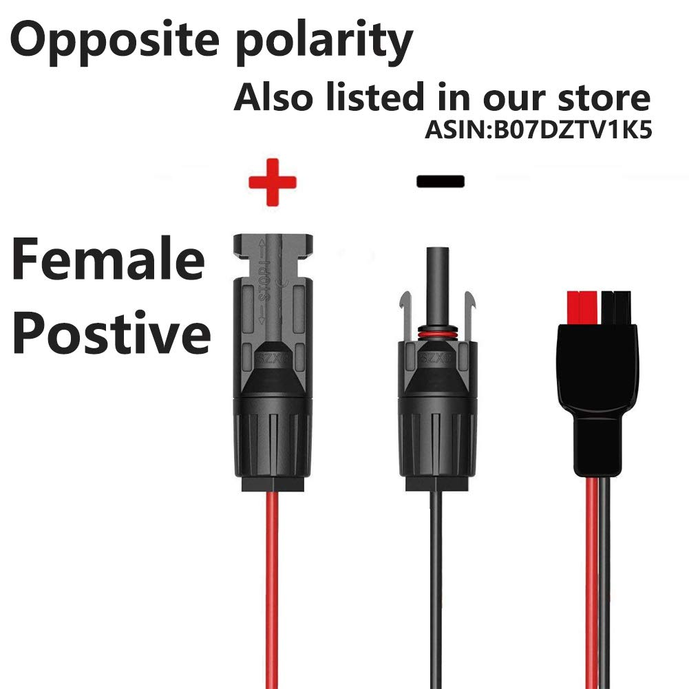 Mc4 Solar To Anderson Power Pole Adapter Connector Male Red 12 Volt Cigarette Lighter Wire Diagram And Famale Panel Cable Kits For Pv Goal Zero Yeti Suaoki