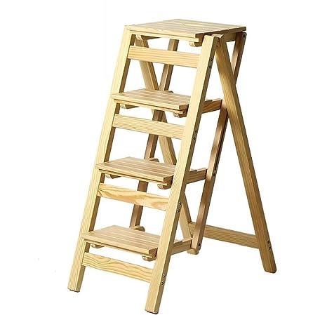 Amazon.com: WWL - Taburete de madera plegable 2/3/4 niveles ...