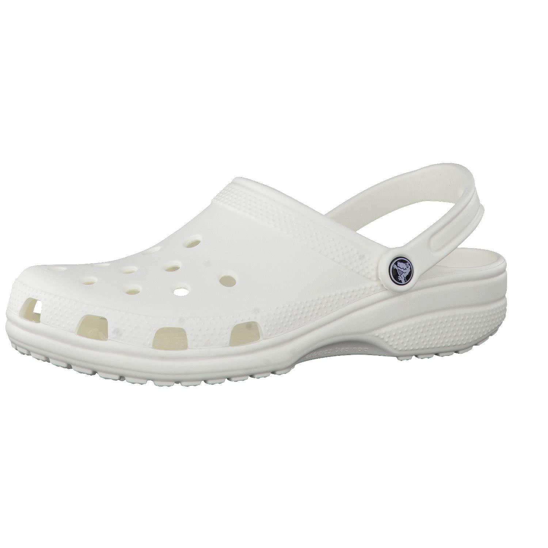 Crocs Unisex Classic Clog 10001, White, 8