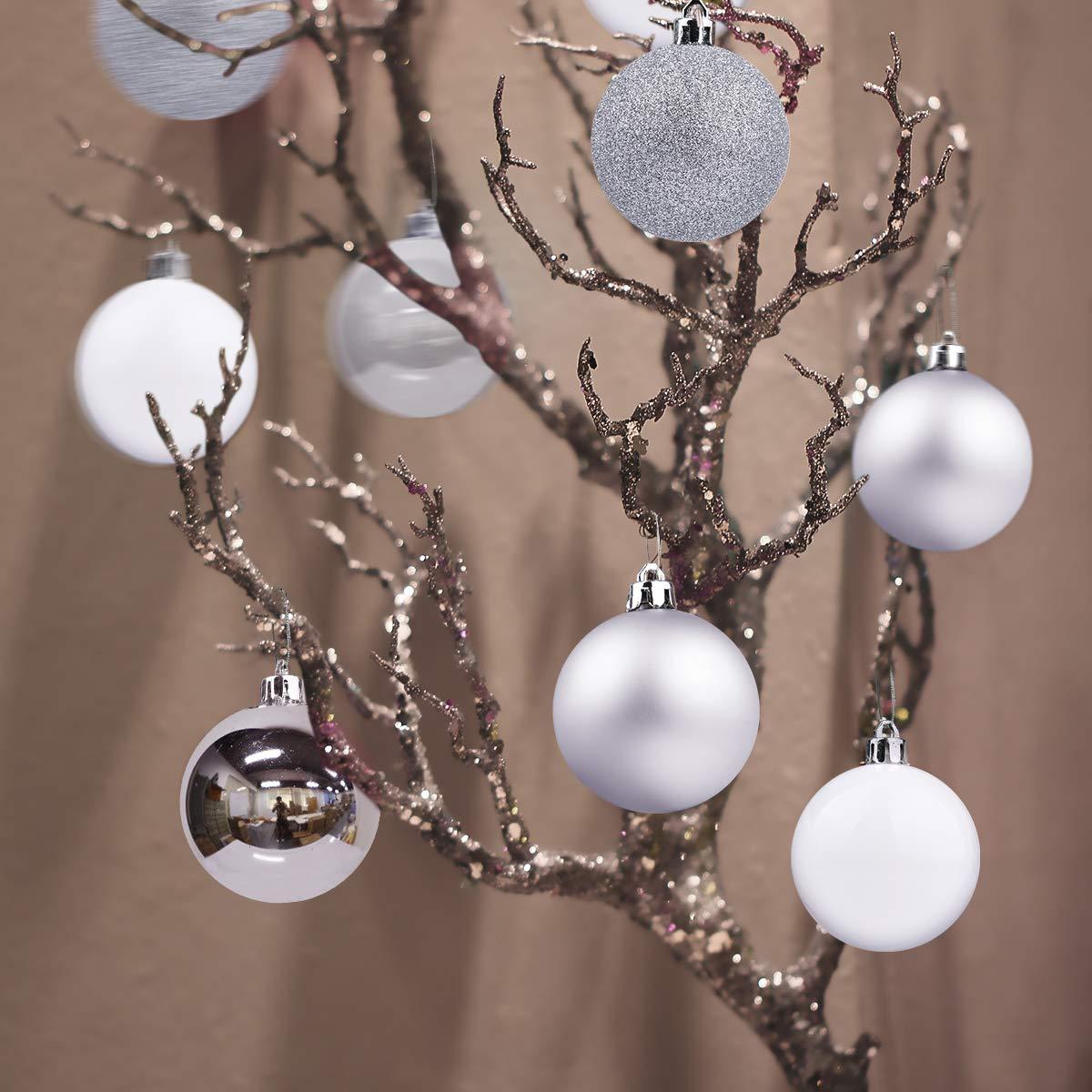 Shatterproof Christmas Tree Decorations Large Hanging Ball Blue 2.5 Christmas Balls Ornaments for Xmas Tree