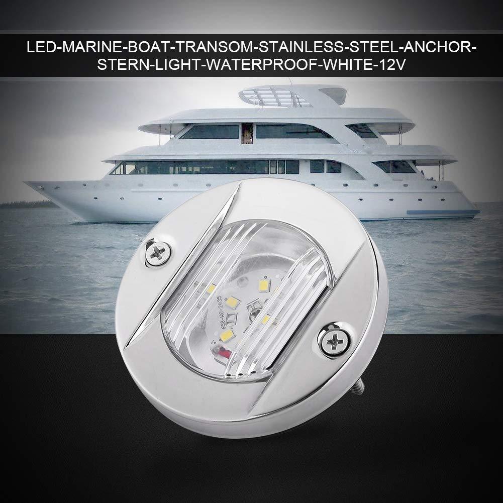 LED Marine Boat Transom Light,LED Stern Light 12V Marine Boat Transom White LED Stainless Steel Waterproof Anchor Stern Navigation Light by Tbest