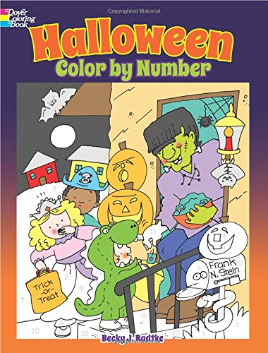 Halloween Color by Number (Dover Children's Activity Books)