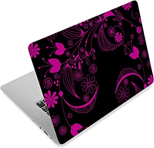 Laptop Stickers Decal,12 13 14 15 15.6 inches Netbook Laptop Skin Sticker Reusable Protector Cover Case for Toshiba Hp Samsung Dell Apple Acer Leonovo Sony Asus Laptop Notebook (Beautiful Flowers)