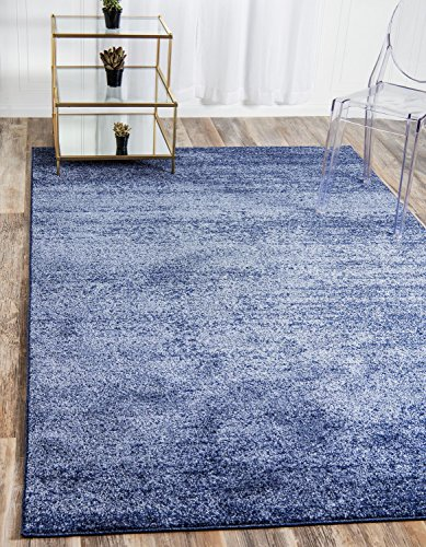 Unique Loom Del Mar Collection Contemporary Transitional Navy Blue Area Rug (5′ x 8′)