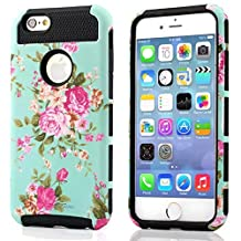 iphone 5s Case, iphone 5 Case, TPU + Pc Dual Layer Hybrid Fashion Shockproof Soft Hard Defender Case Cover for Apple iphone 5/5s (Orchid-black)