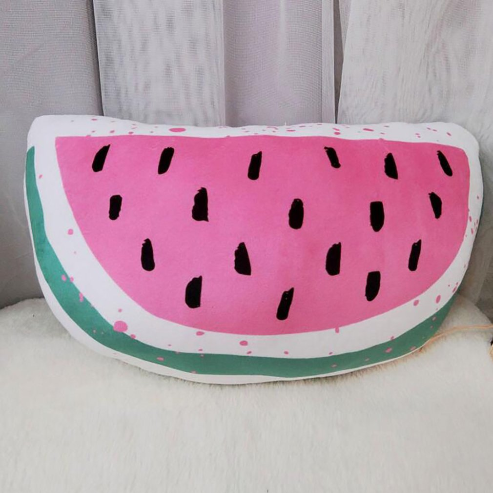 Cute Summer Back Cushion, Decorative Throw Pillow,Simulation Pillow Cushion,Plush Toy, Travel Pillow,Gifts for Kids (Watermelon 4030cm/16''12'')
