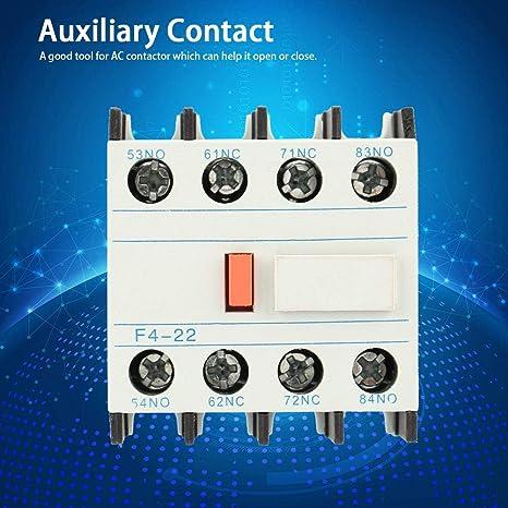 LADN22 Contacteur /à courant alternatif Schakelaar F4-22 2 NO 2 NC Contact auxiliaire de contacteur /à CA