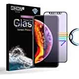 iPhone XR フィルム,shinplus ブルーライトカット 旭硝子 非光沢 さらさらフィルム iPhoneXR 強化ガラス 液晶保護フィルム 反射防止 目の疲れ軽減 防指紋 気泡レス 3D曲面 全面吸着 フルカバー(黒)