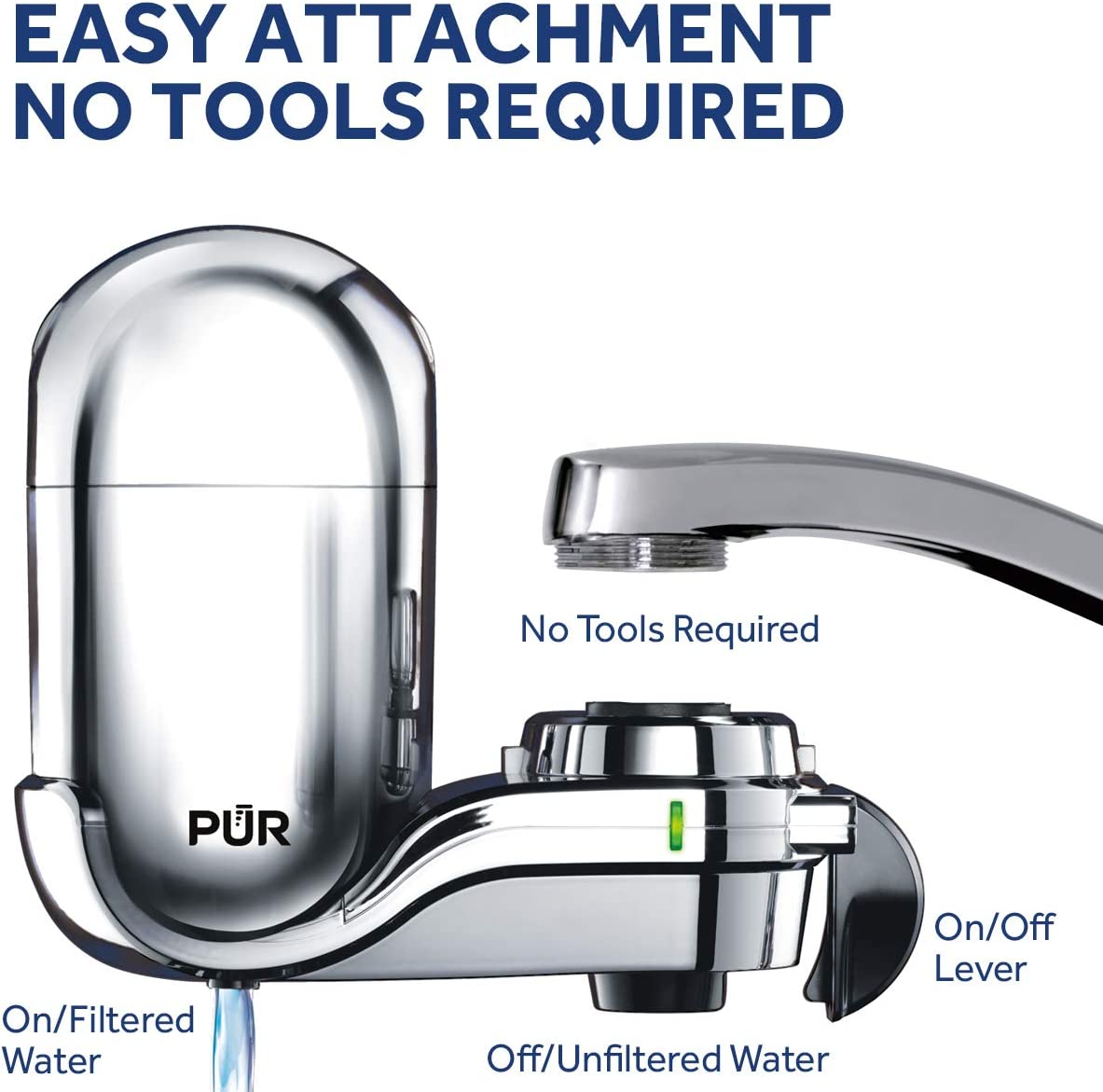 PUR - FM-3700 Faucet Mount Water Filter - easy to install