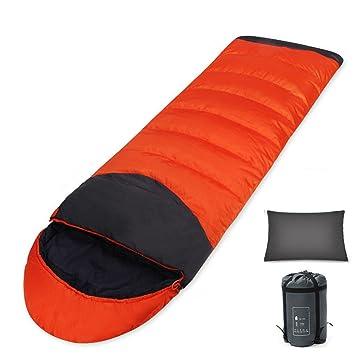 HM&DX Verano Saco De Dormir Camping Adultos Envoltura 3 Temporadas Portátil Ultraligero Bolsa De Dormir con Saco De Compresión Hiker Mochilero Viajar ...