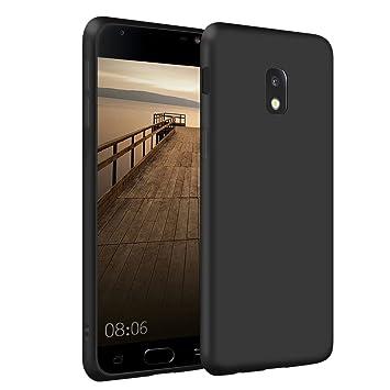 SDTEK Samsung Galaxy J3 2017 Funda [Matte Carcasa] Negro Case Bumper Cover Suave Crystal Silicona Samsung Galaxy J3 2017