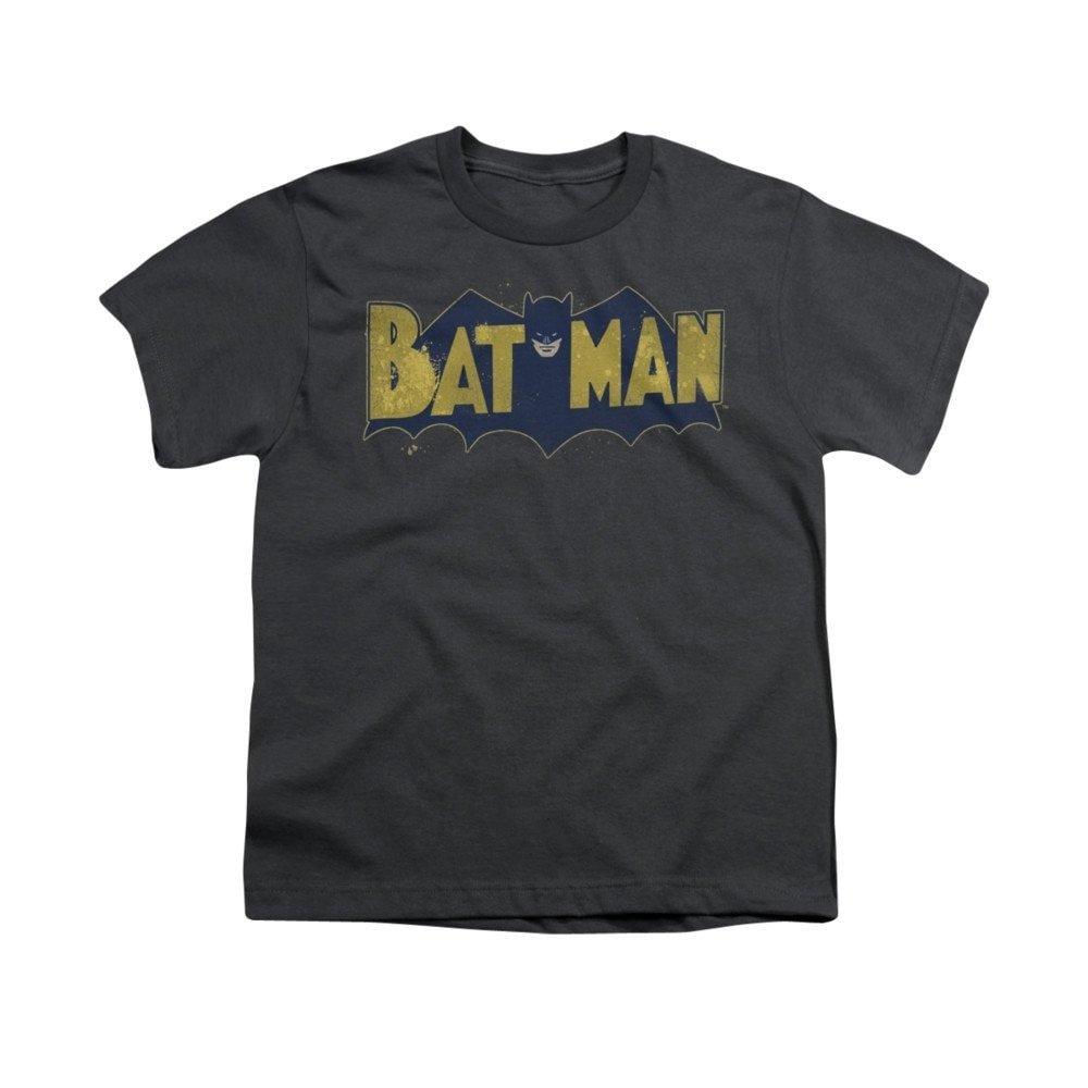 Batman Vintage Logo Splatter Youth T-shirt