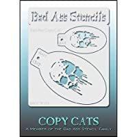 Bad Ass Copy Cat Stencil - Skull 9013, Thin, Flexible, High Grade Mylar, Reusable Face Painting Stencil, Great for…