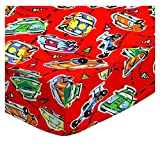 Race Cars Travel Crib Light Fitted Sheet