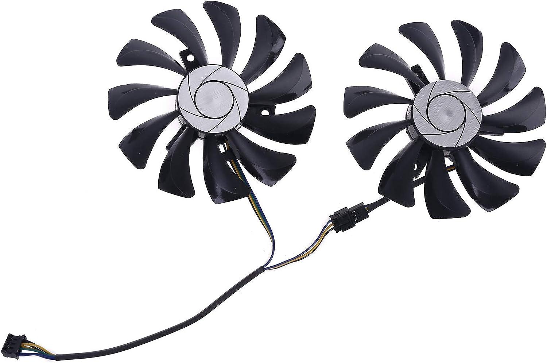 Idkska 1 Pair 85mm HA9010H12F-Z 4Pin Cooler Fan Replacement for MSI GTX 1060 OC 6G GTX 960 P106-100 P106 GTX1060 GTX960 Graphics Card Fan