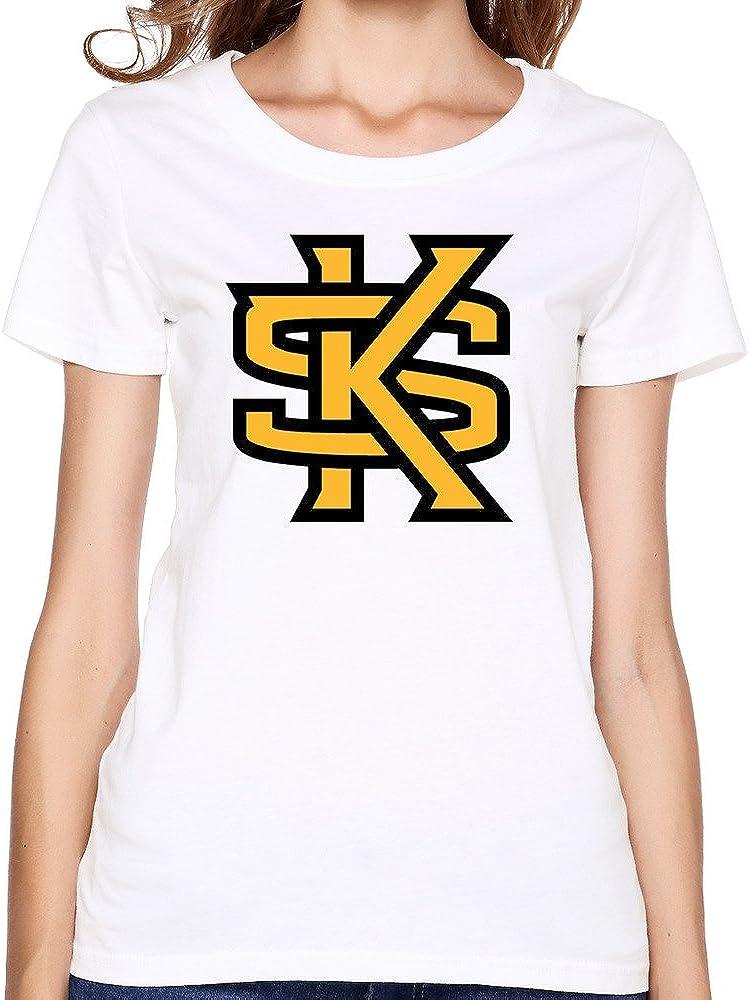 Women's Kennesaw State University Hockey Team Logo T Shirts White