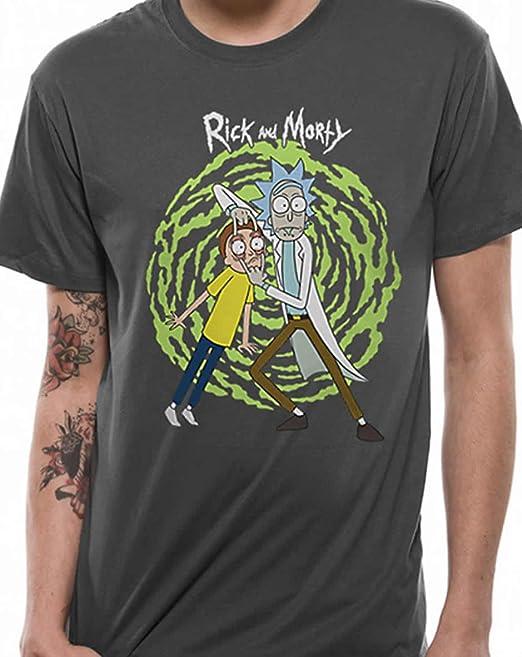Rick and Morty - Camiseta - para Hombre Gris Gris Oscuro XX-Large: Amazon.es: Ropa y accesorios