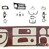 Kit de decoração para interior de carro, kit de acabamento para painel, capa 15 peças Aparência de madeira para Honda Civic 2
