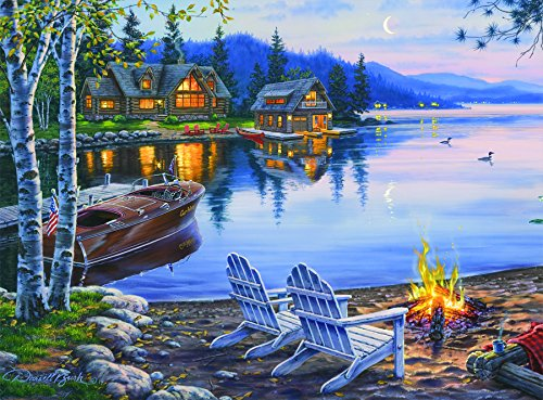 (Buffalo Games - Darrell Bush - Lake Reflection - 1000 Piece Jigsaw Puzzle)