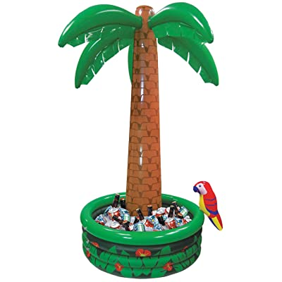Amscan 374583 Jumbo Inflatable Palm Tree Party Cooler, 6' x 4', Multicolor, 9 oz: Kitchen & Dining