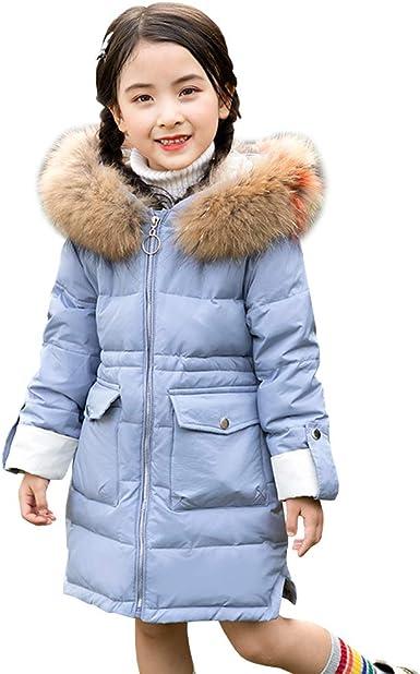 Enfant Toddler Kids Fille Hiver Matelassé Fausse Fourrure à Capuche Manteau Chaud Veste Vêtements D/'extérieur