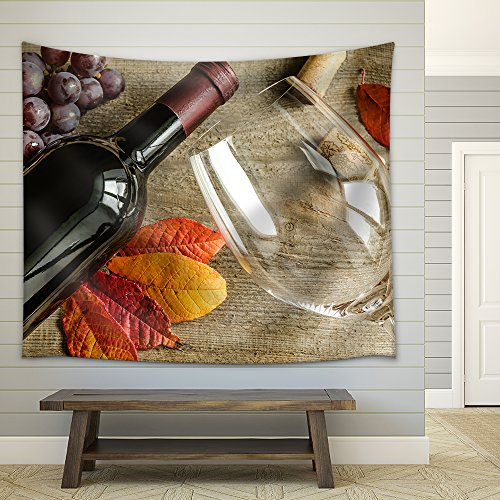 Red Wine Fabric Wall Tapestry