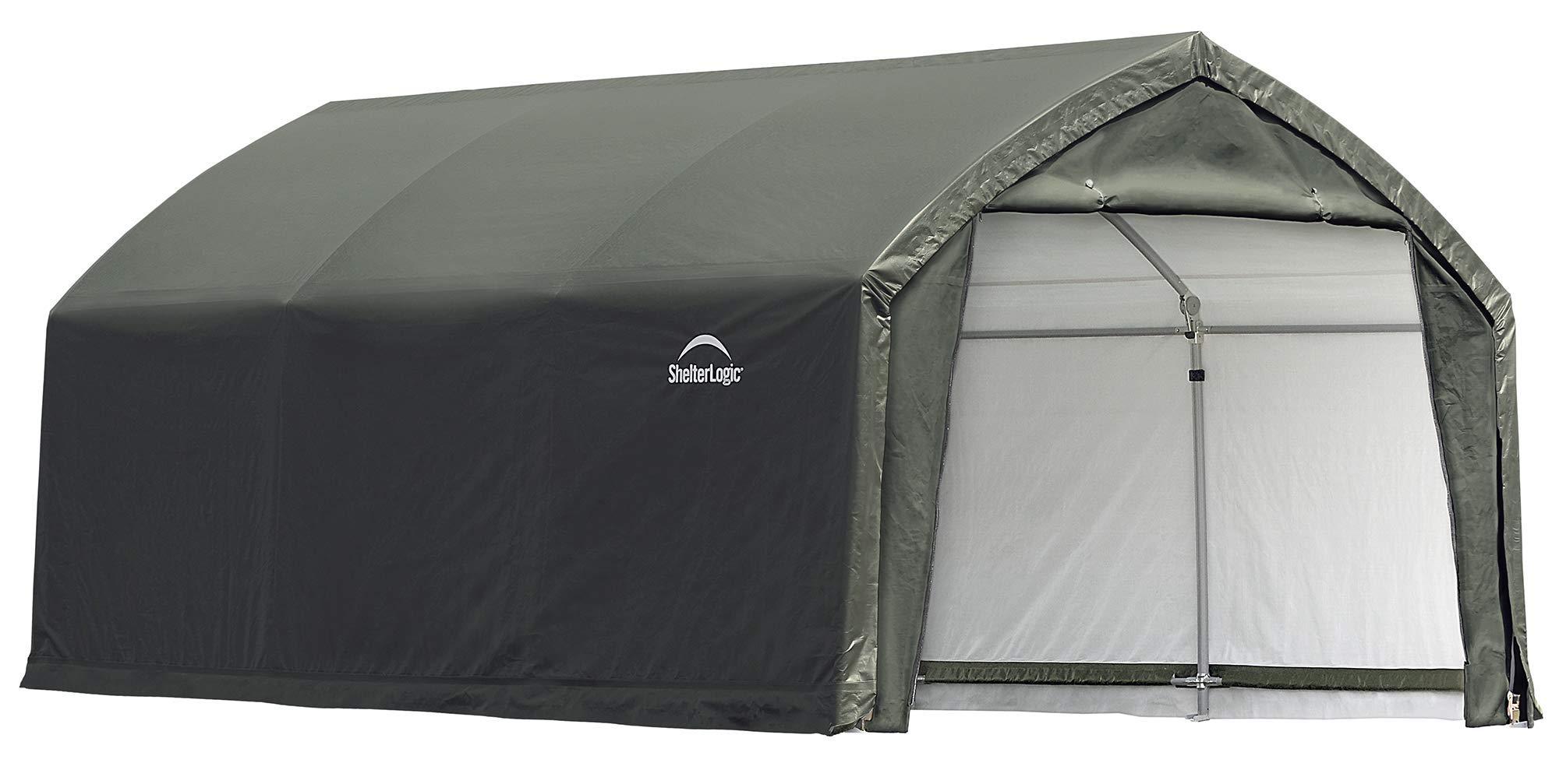 ShelterLogic 84558 Shelter ft Garage, 12 x 15 x 9'. , green