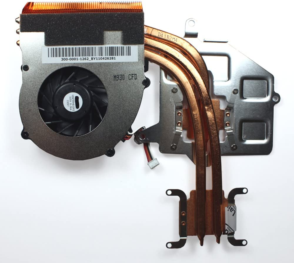 Power4Laptops Replacement Laptop Fan with Heatsink for Sony Vaio VPC-F114FX/B, Sony Vaio VPC-F114FX/H, Sony Vaio VPC-F115FG/B, Sony Vaio VPC-F115FM, Sony Vaio VPC-F115FM/B