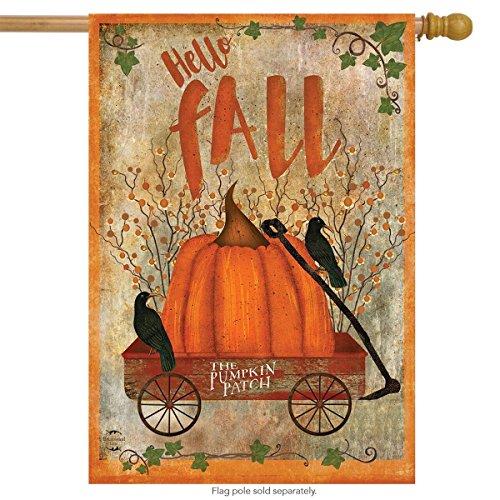 Briarwood Lane Prized Pumpkin Autumn House Flag Primitive Hello Fall 28
