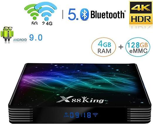 WFGZQ TV Box Android 9.0, Reproductor Multimedia 4GB RAM 128GB ROM S922X Cortex-A53 CPU De Cuatro Núcleos Compatible con Salida 3D 4K H.265 2.4Ghz WiFi Internet 3.0 Android Smart TV Box: Amazon.es: