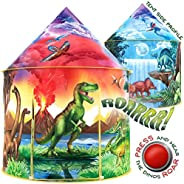 W&O Dinosaur Discovery Kids Tent with Roar Button, an Extraordinary Pop Up Tent for Kids, Dinosaur Toys fo