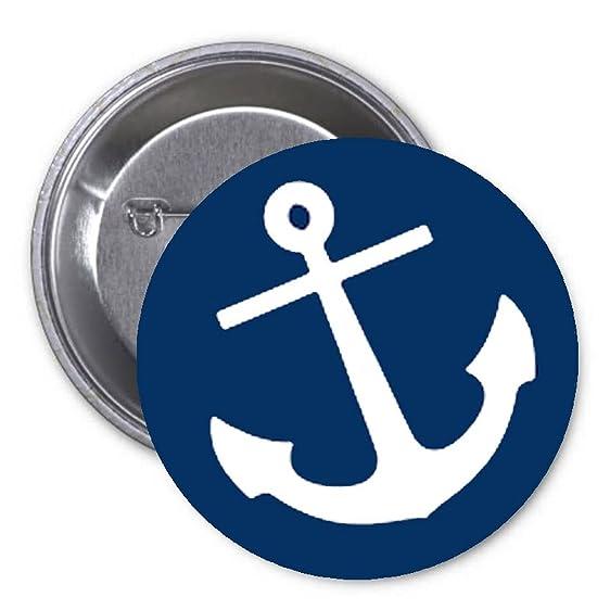 Amazon Anchor Symbol 125 Pinback Button Pin Navy Clothing