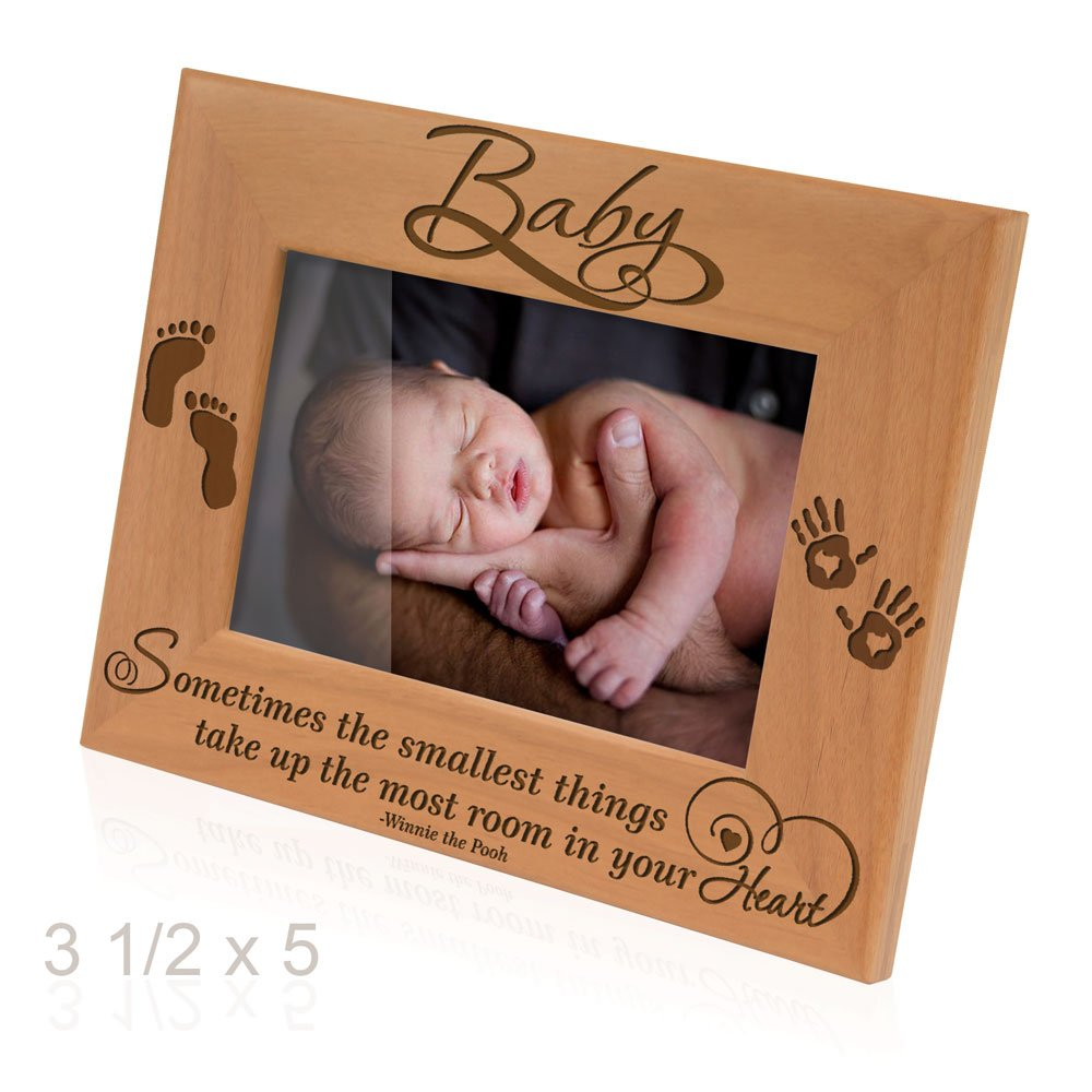 Kate Posh - Sometimes the smallest things take up the most room in your heart - Winnie the Pooh Sonogram Picture Frame (3 1/2 x 5 Horizontal - Baby) by Kate Posh (Image #2)