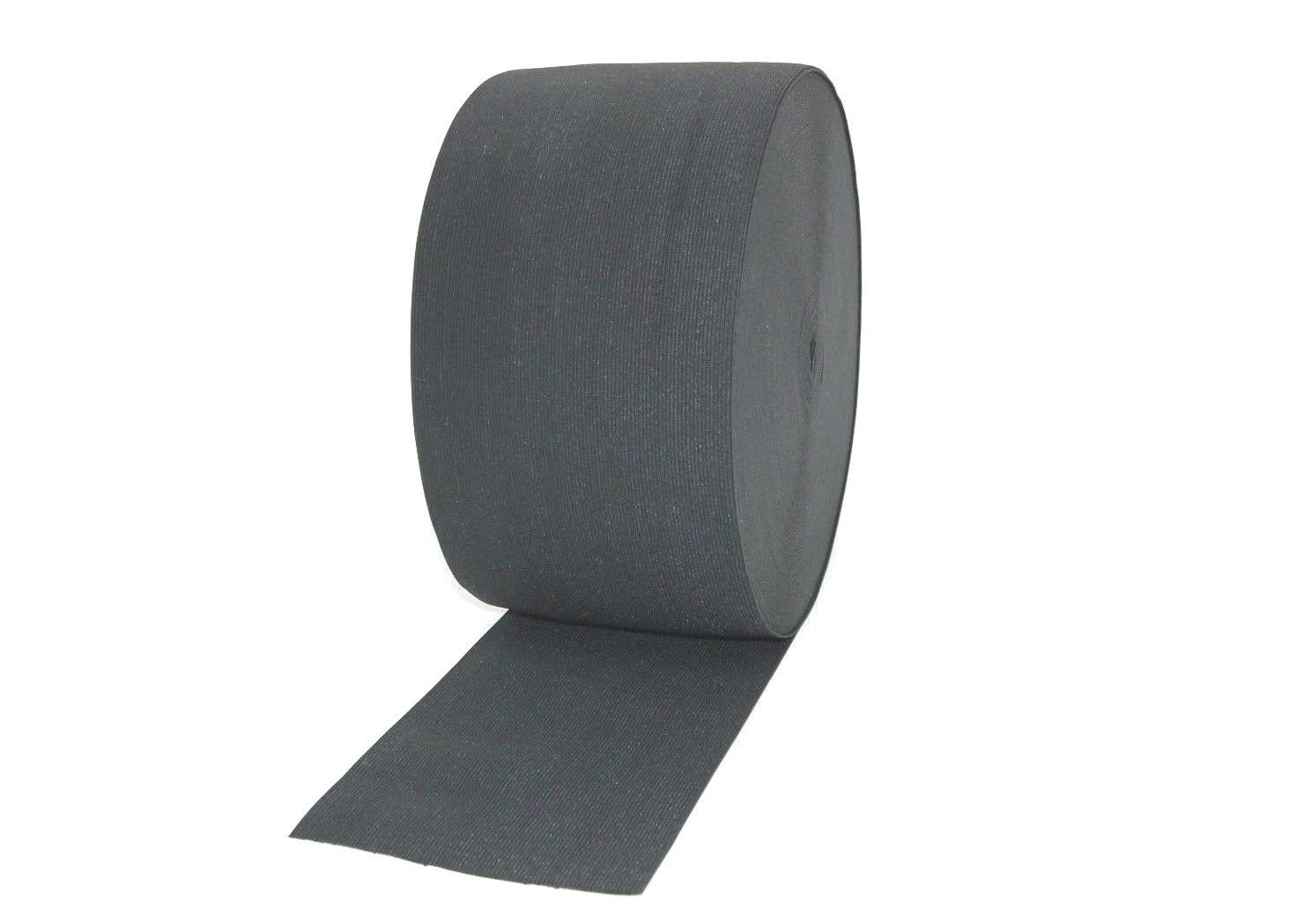 1metre BLACK ELASTIC 6INCH WIDE, 150MM WIDE WOVEN ELASTIC MNJ