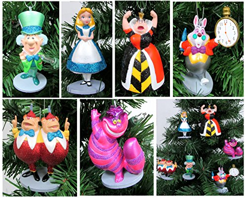 Alice in Wonderland 6 Piece Christmas Tree Ornament Set